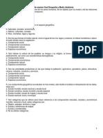 Guía de Examen Final Geografía y Medio Ambiente
