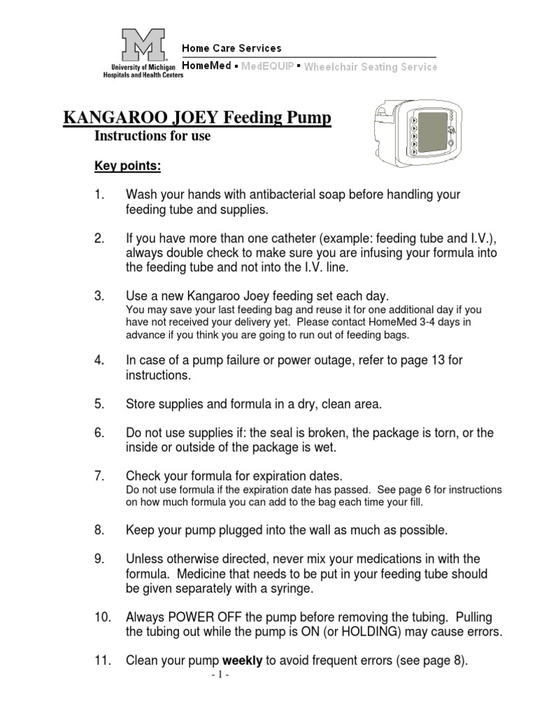 Kangaroo Joey Manual Intravenous Therapy Pump