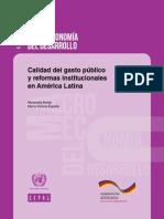 Caliad Del Gasto CEPAL.