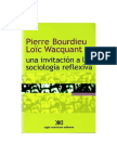 Bourdieu Pierre y Wacquant Loic-Una Invitacion a La Sociologia Reflexiva