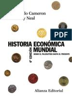 Historia Económica Mundial. Del Paleolítico Hasta El Presente - Rondo Cameron y Larry Neal