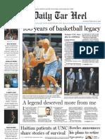 The Daily Tar Heel for Feb. 15, 2010