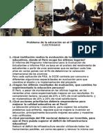 Problema de La Educación en El Perú