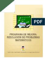 Programa Mejora-problemas Matematicos