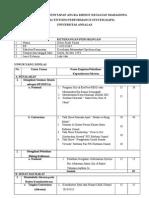 contoh format SAPS UNIVERSITAS  ANDALAS