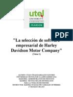 La selección de software empresarial de Harley Davidson Motor Company