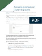Formulario de Contacto Con PHP y Javascript