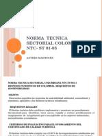 Norma Tecnica Sectorial Colombiana Ntc- St 01-05 Presnetacion