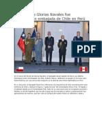 El Día de Las Glorias Navales Fue Celebrado en Embajada de Chile en Perú