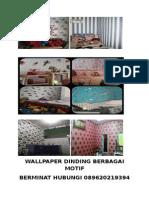 Wallpaper Dinding Berbagai Motif