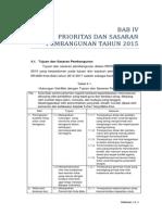 04 RKPD 2015 - BAB 4 Prioritas Dan Sasaran Pembangunan Tahun 2015