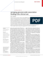 Bringing GWAS Finding to Clinical Use