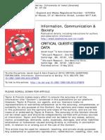 Wk07 - Boyd, Crawford - 2012 - Critical Questions for Big Data