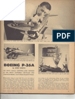 Boeing P-26A CL Scale March 1965 MAN P-1