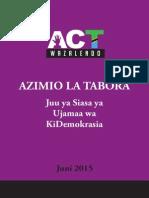 Azimio La Tabora 2015