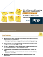Role of Finance and Accounting Outsourcing in achieving the CFO's Agenda for 2010