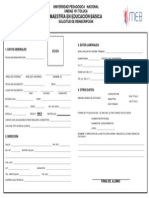 Formulario Formato Reinscripcion MEB