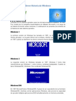 Breve Historia de Windows