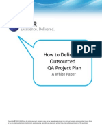 How to Define an Outsourced QA Project Plan
