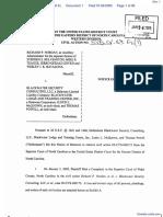 Nordan, et al v. Blackwater Security, et al - Document No. 1