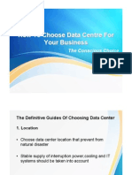 How to Choose Right Data Center