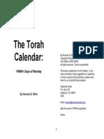 The Torah Calendar Home Printable