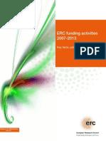 ERC funding activities 2007-2013