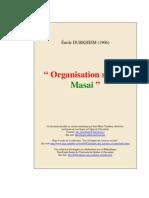 Émile Durkheim - Organisation Sociale Masai (1906)