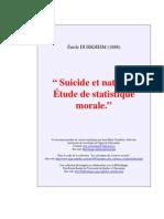 Émile Durkheim - Suicide Et Natalité. Étude de Statistique Morale (1888)