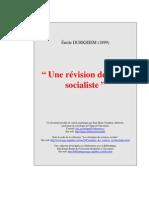 Émile Durkheim - Une Révision de l'Idée Socialiste (1899)