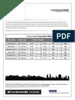 Cannondale Mountain Bike Sizing Chart