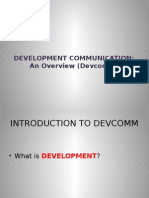 Development Communication - An Overview Lecture 1