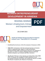 Women Entrepreneurship Development in Armenia by Karen Gevorgyan