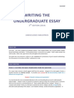 Writing the Undergraduate Essay