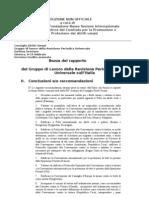 UPR Raccomandazioni in Italiano
