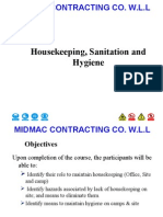 Housekeeping, Sanitation and Hygiene