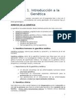 Tema 1. Introducción a La Genetica