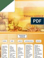 Valoarea Nutritiva a Produselor Alimentare