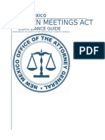 Open Meetings Act Compliance Guide 2015