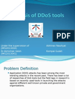 Analysis of DDoS tools