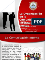 La Organización de La Comunicación Interna en Ventas