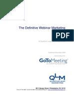 GoToWebinar Definitive Webinar Marketing EGuide