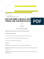 Nsci 280 Week 4 Muscle-muscle Tissue- And the Muscular System