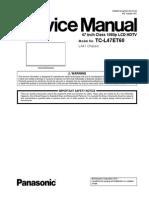 сервис мануал на английском Panasonic TC-L47ET60 шасси LA41 MTNC130101CE.pdf