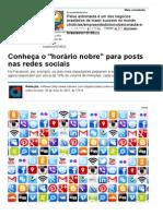 Conheça o horário Nobre Para Posts Nas Redes Sociais