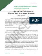 Cyclic Sleep Wake Up Scenario for Wireless Body Area Sensor Networks