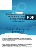 Organizarea Unui Curs de Certificare În Domeniul Managementului