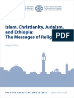 Islam, Christianity, Judaism, and Ethiopia