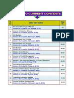 Index of journals titles