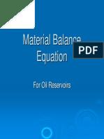 6- Material Balance Equation